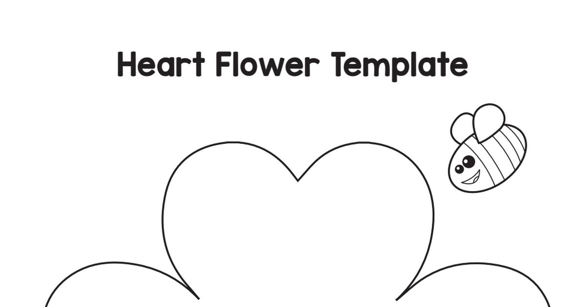 heart flower craft template pdf mothers day pinterest flower
