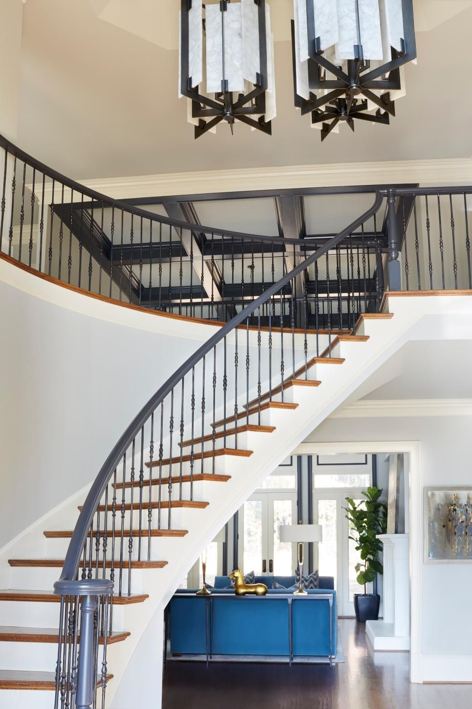 50 Stair Railing Ideas to Dress Up Your Entryway | HGTV ...