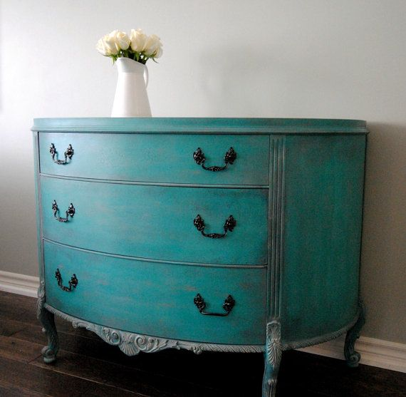 SoldHand painted vintage dresser made by by VintageRefinished