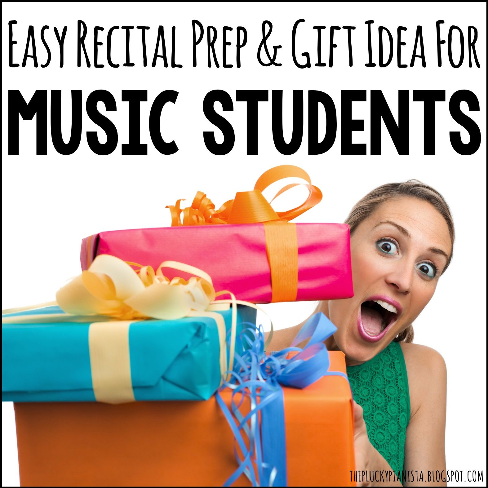 Easy recital prep and gift idea for students piano