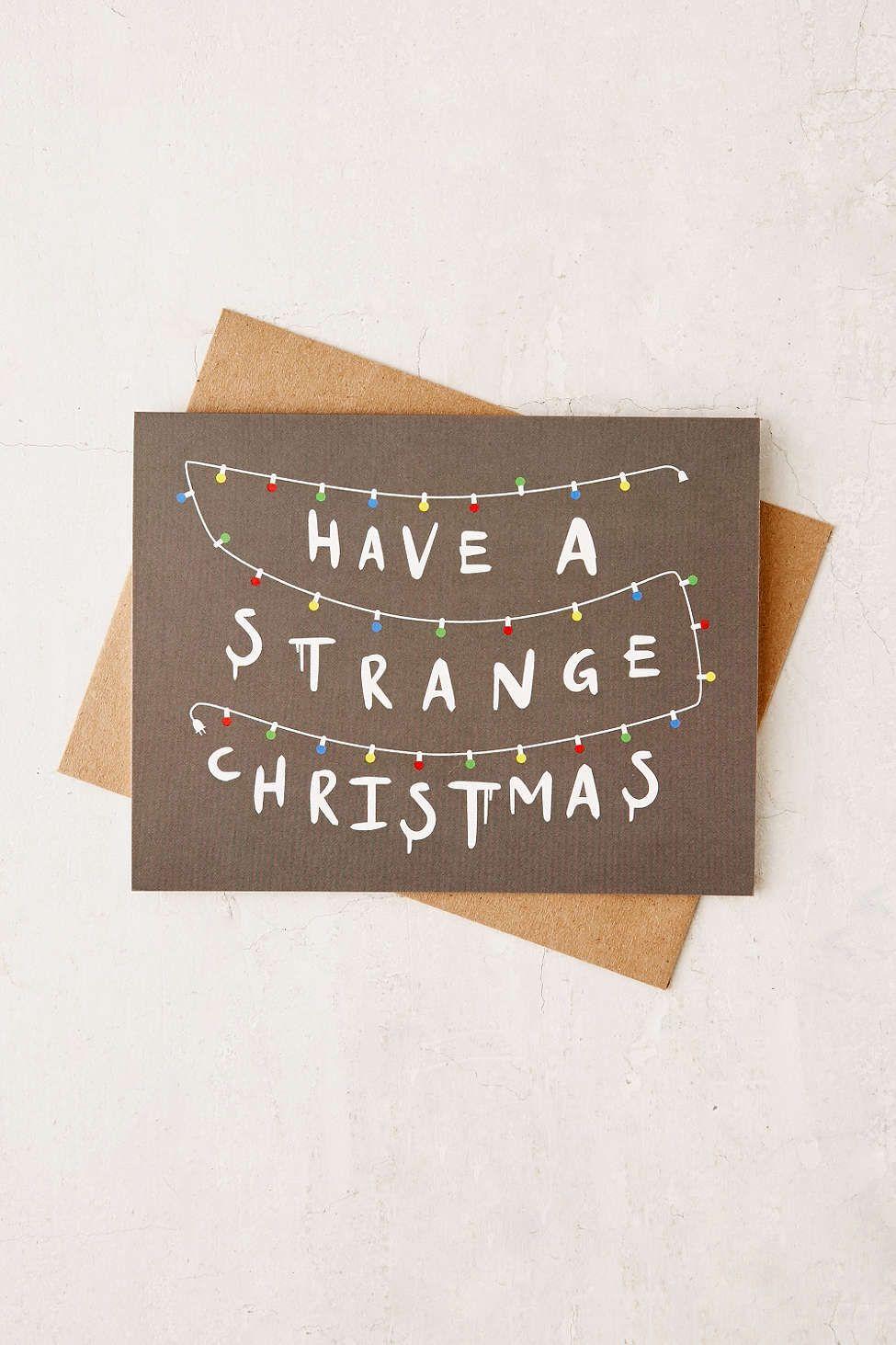 lionheart prints strange holiday card  stranger things