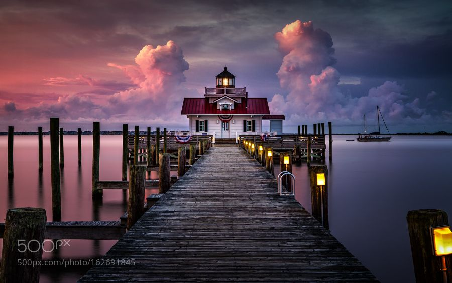 First Light over Manteo by edwardreese