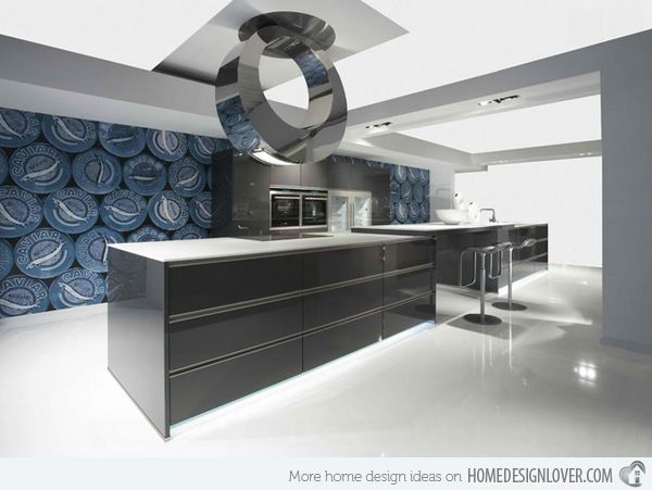 15 Ideas For Contemporary Designer Kitchens  High Gloss Extraordinary Designer Kitchen Ideas Review