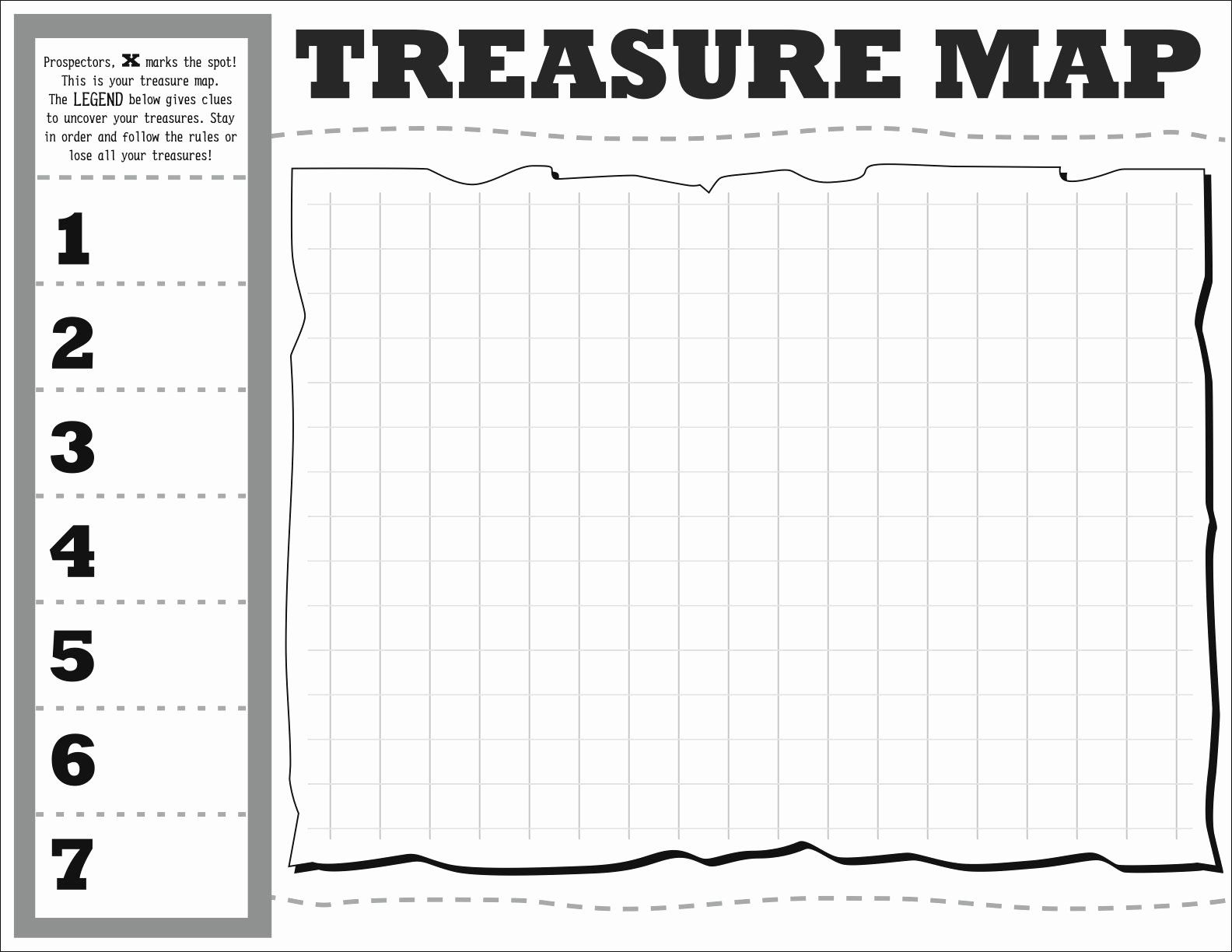 30 Printable Blank Treasure Map In With Images