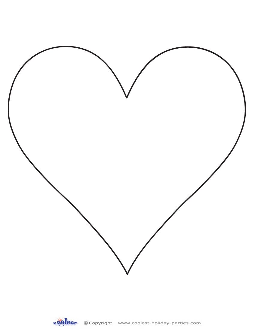 Printable Heart Cut Out 1 Coolest