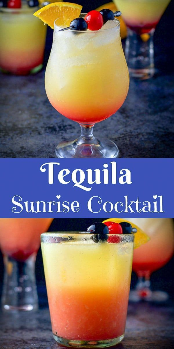 Tequila Sunrise Cocktail | Dishes Delish