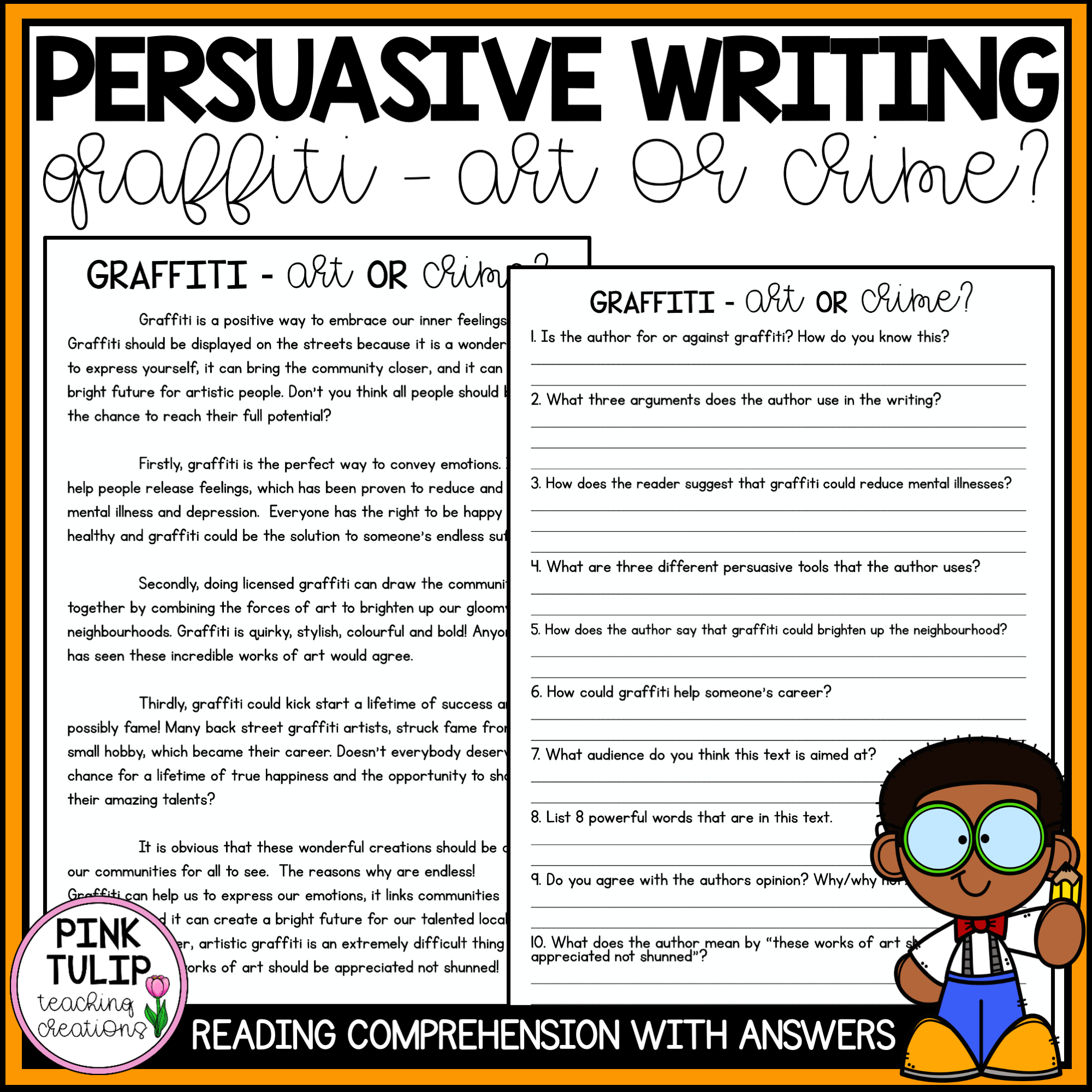 Persuasive Writing Comprehension
