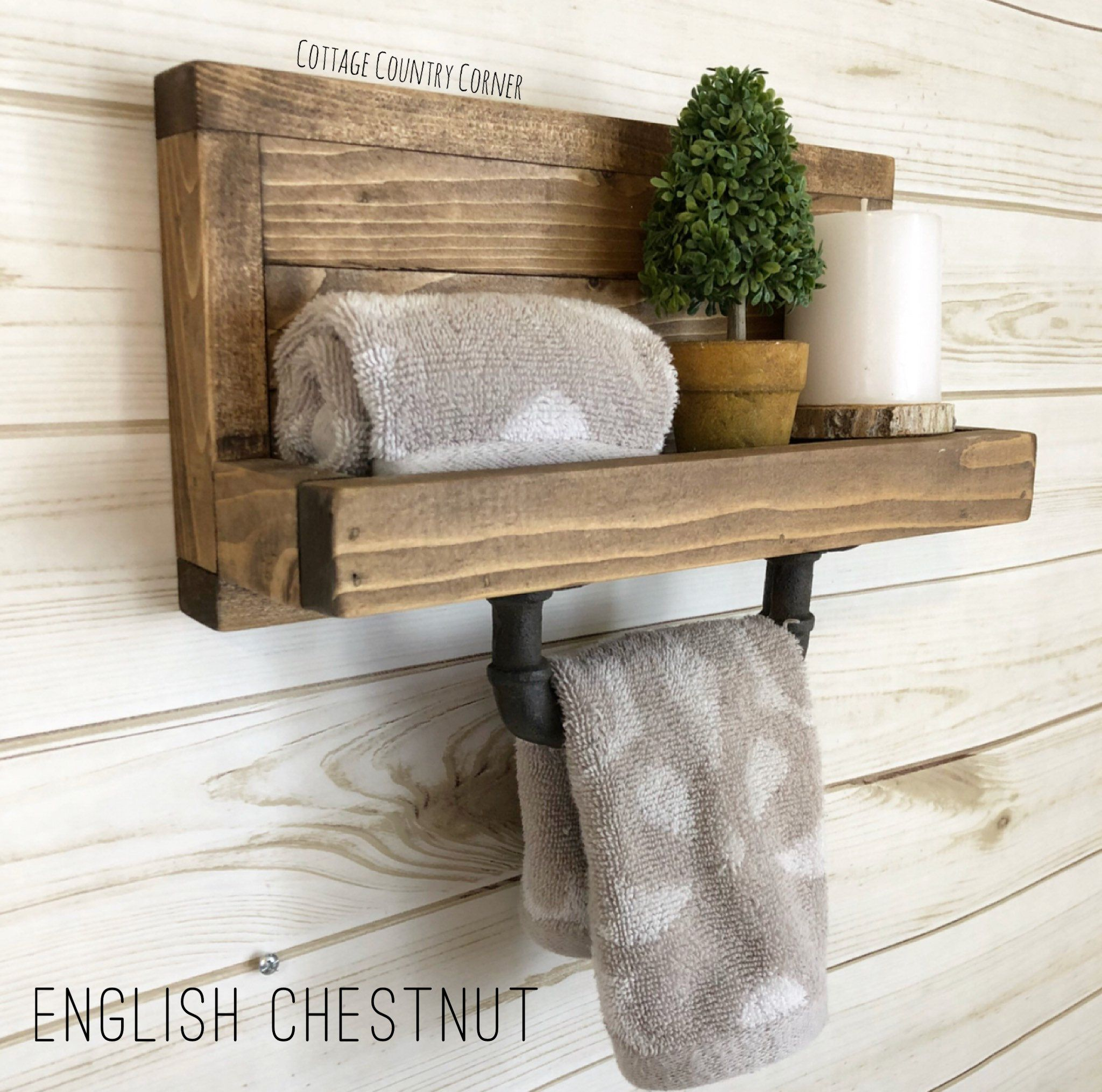 Small Hand Towel Holder Towel Rack Bathroom Decor Towel Etsy Hand Towel Holder Small Hand Towels Kitchen Towel Holder