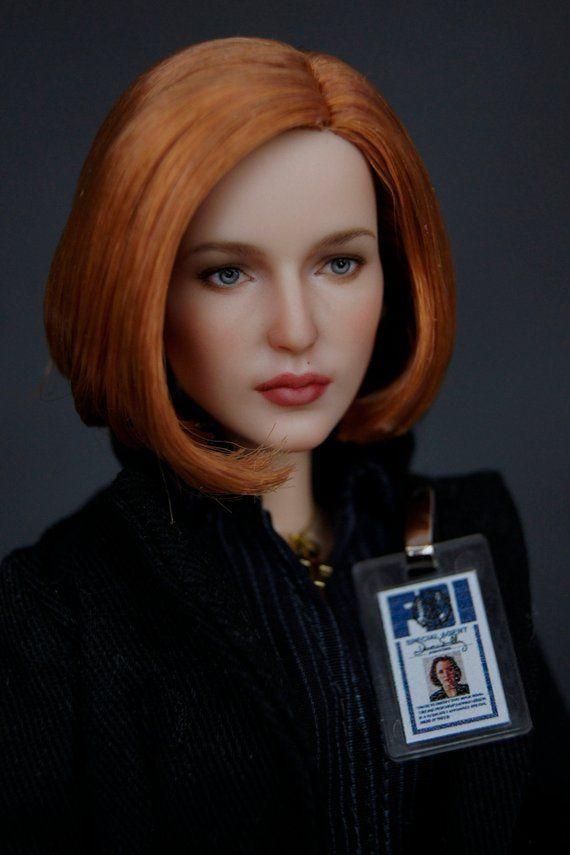 Dana Scully Barbie X-Files Nude OOAK Red Hair Short Bob