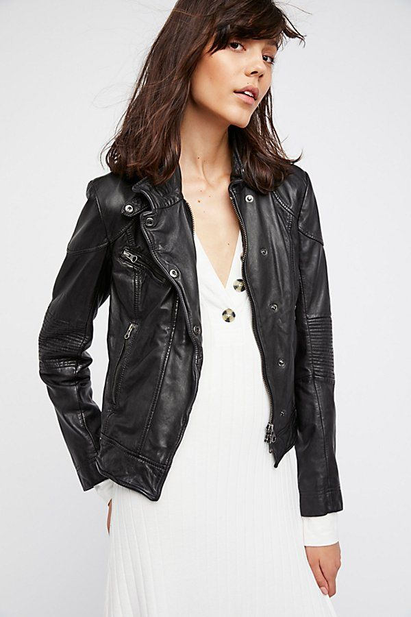 Slide View 3 Fitted And Rugged Leather Jacket Rugged Leather Leather Jacket Leather Fashion