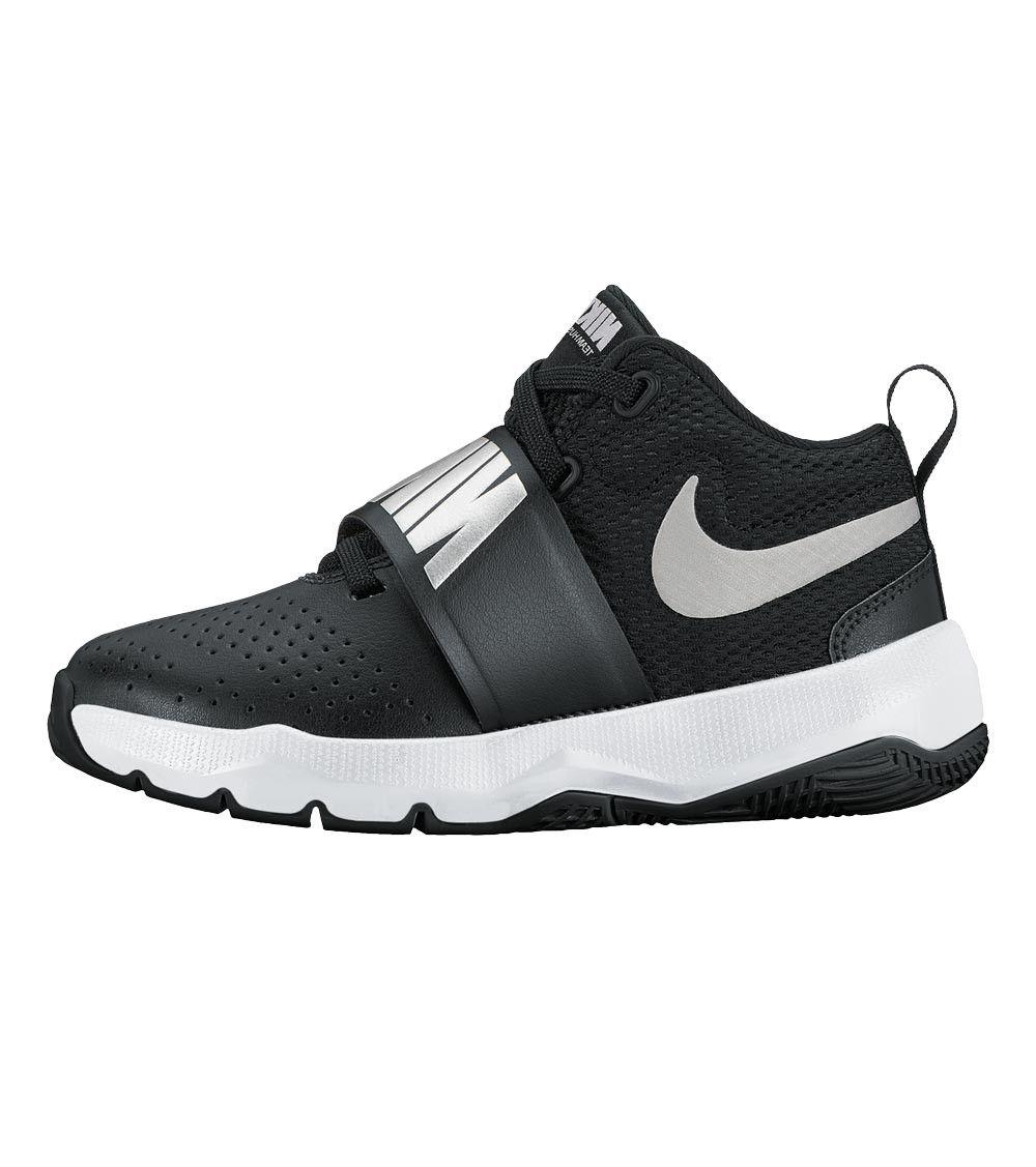 Nike Team Hustle D8 PS Kids Black/Metallic Silver, Kids Footwear, www.