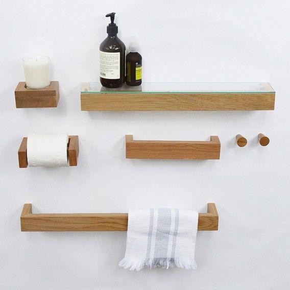 handtuchhalter slimline 28cm eiche natur home24. Black Bedroom Furniture Sets. Home Design Ideas