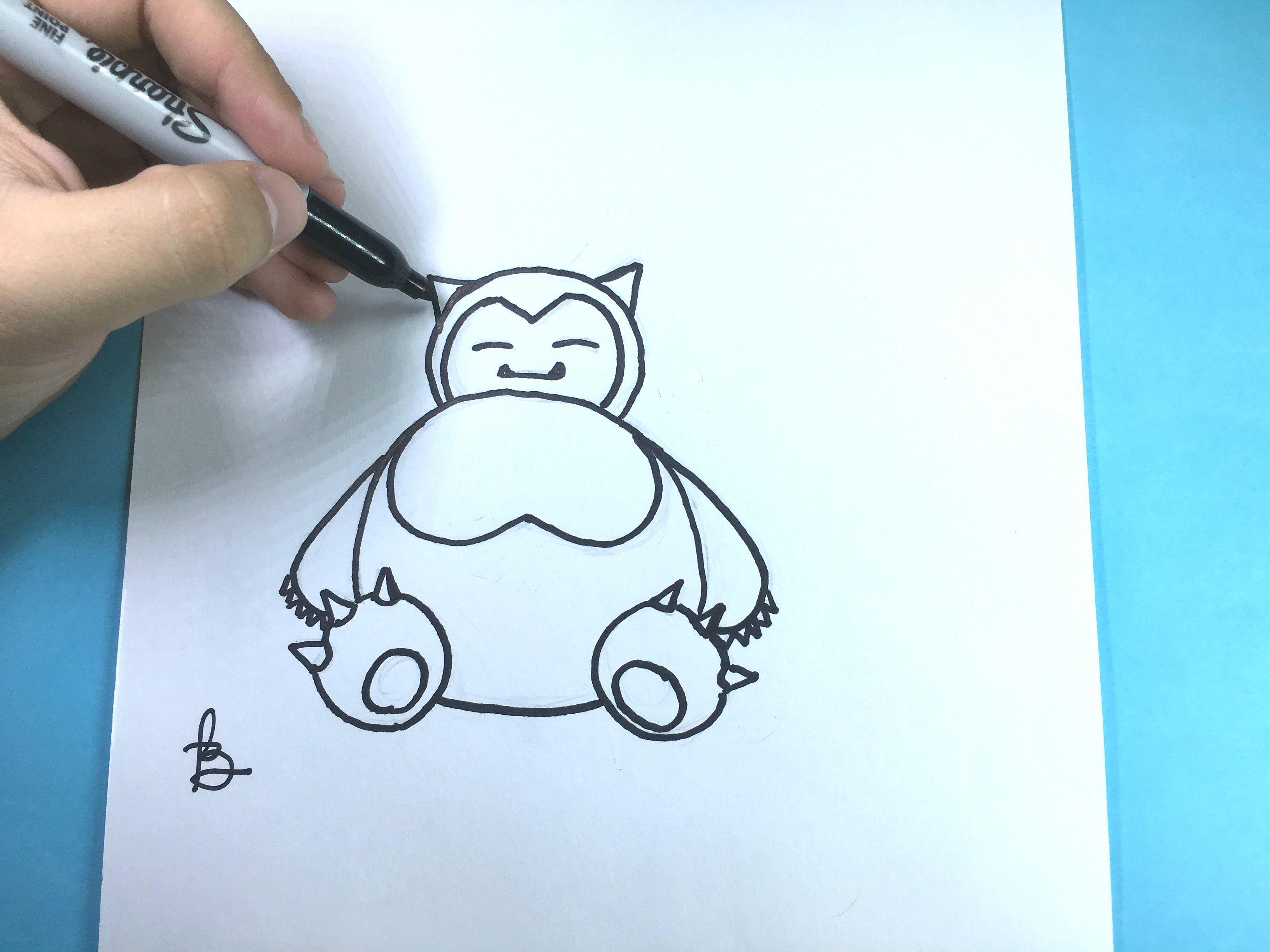 Como Desenhar O Snorlax Pokemon Snorlax Pokemon Pokemon Desenhos