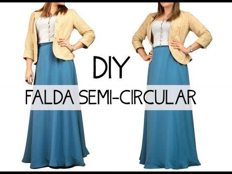 45068e15e6 Haz una falda semi- circular a tu medida!! Visita nuestro sitio web para  ver más proyectos DIY!