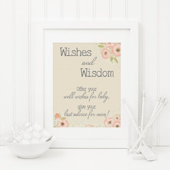 Rustic Baby Shower Wishes And Advice Card Sign Printable Etsy Baby Shower Wishes Bridal Shower Wishes Bridal Shower Printables