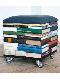 Wohin Mit Alten Büchern upcycling ideen der bücher hocker wohnideen