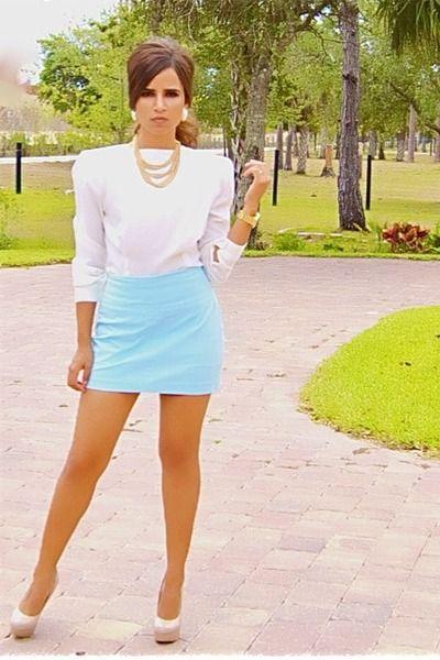 Light Blue Short Skirt