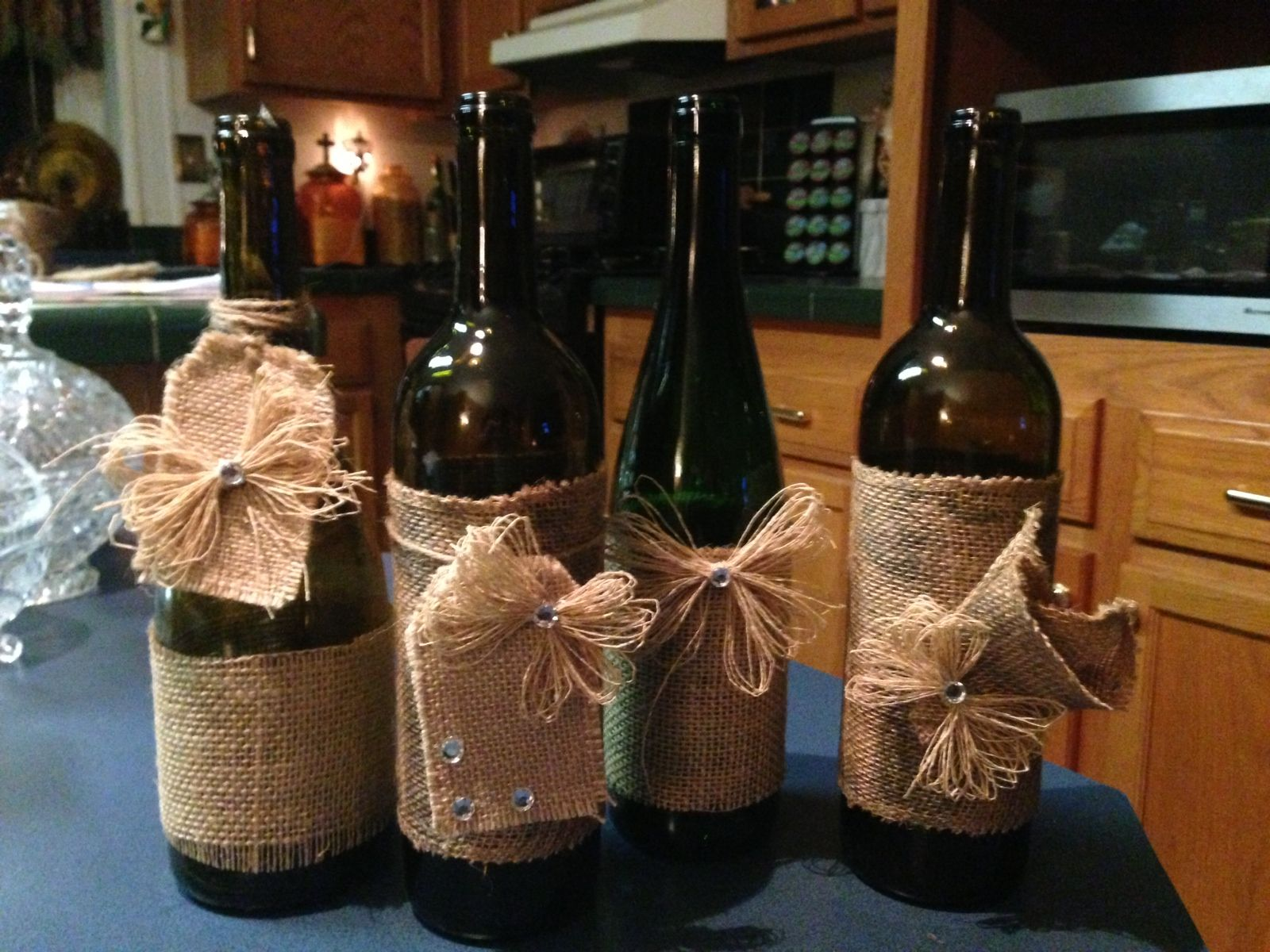 What to do with empty wine bottles - Empty Wine Bottles Altered Bottles Tea Ideas Holiday Ideas Holiday Decor Fun Crafts Diy Gifts Wine Cellar Craft Ideas