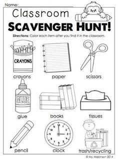 Image result for first day at school activities for kindergarten ...