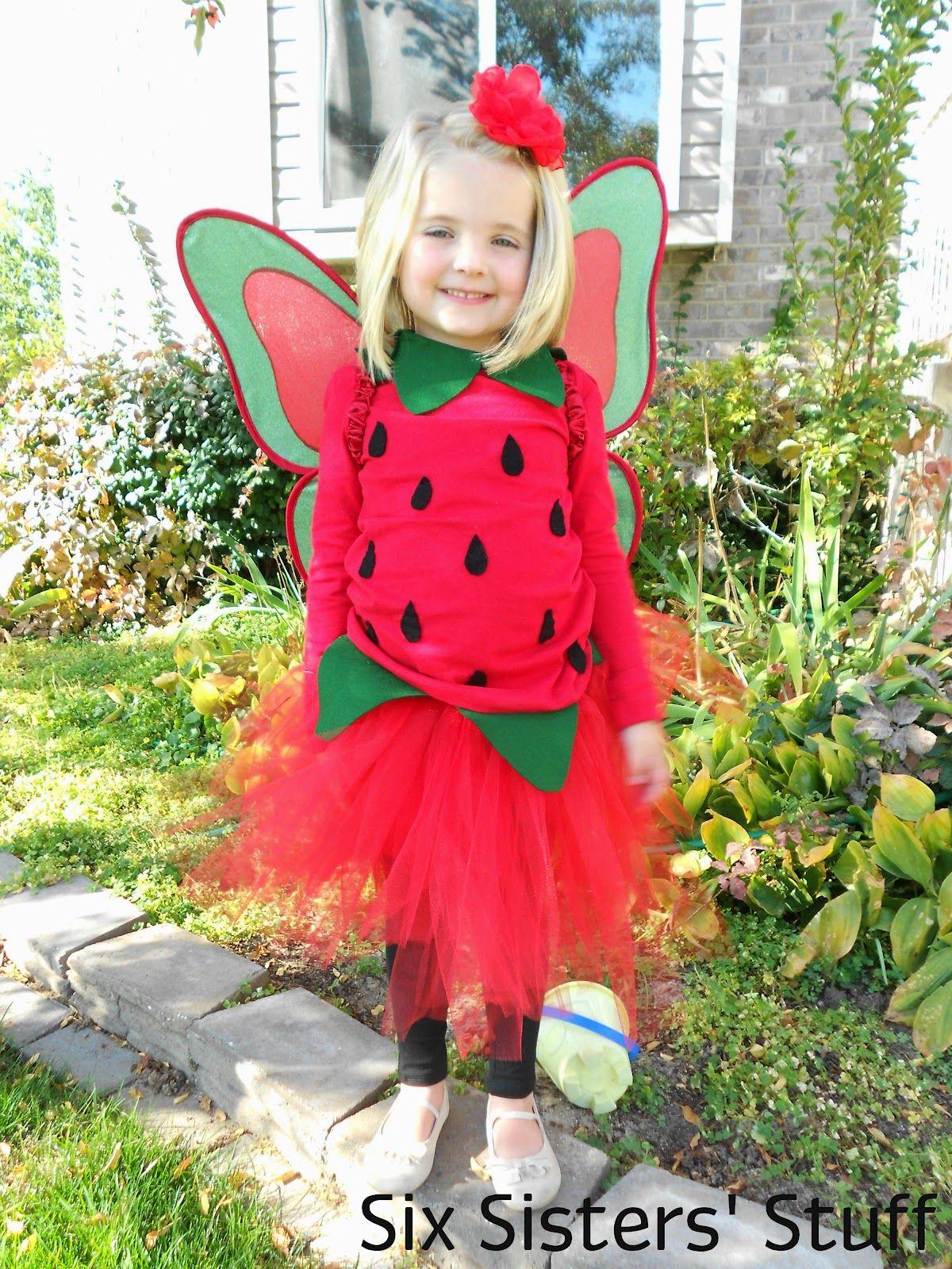 DIY Pottery Barn Kids Strawberry Fairy Halloween Costume