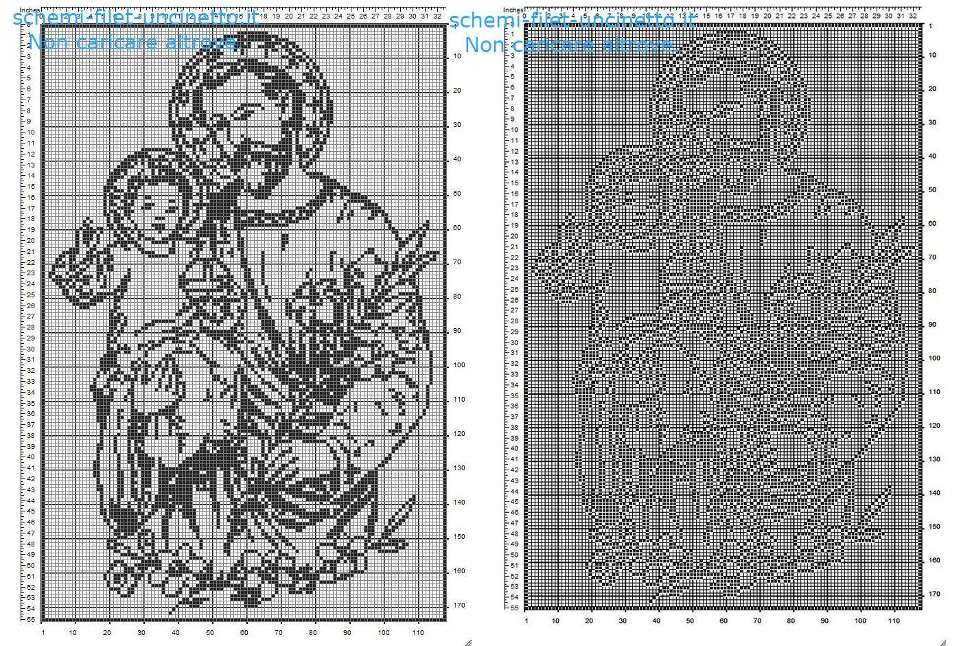 San giuseppe schema filet uncinetto gratis idea quadro for Punto croce immagini