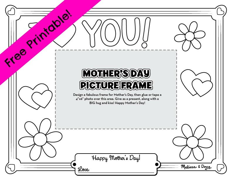 diy picture frame adorable gift idea for mothers day from a younger kid