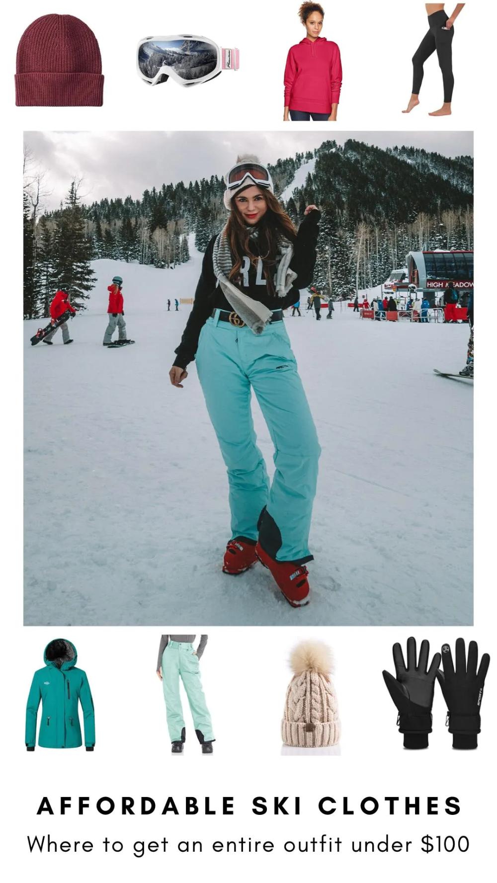 Stylish High-Performance Snowsuit Womens Dayglow Neon Rainbow Ski Suit