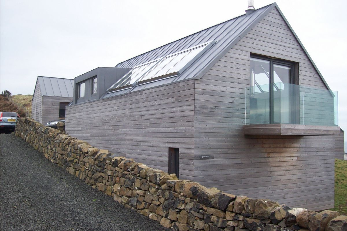 Russwood timber cladding provides an attractive durable for Modern house cladding