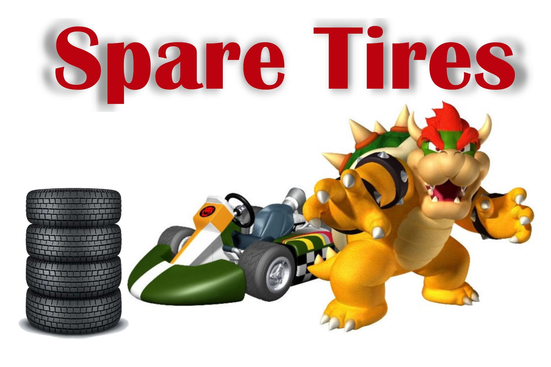 Mario Kart -- Spare Tires Label    I printed this in a 4X6 and put it in a frame to label the canister full of oreo cookies on the Power Up Buffet!