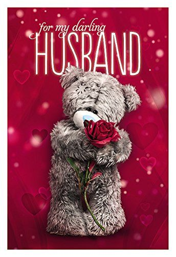 Product image of me to you anniversary husband 3d holographic product image of me to you anniversary husband holographic card tatty teddy by carte blanche m4hsunfo