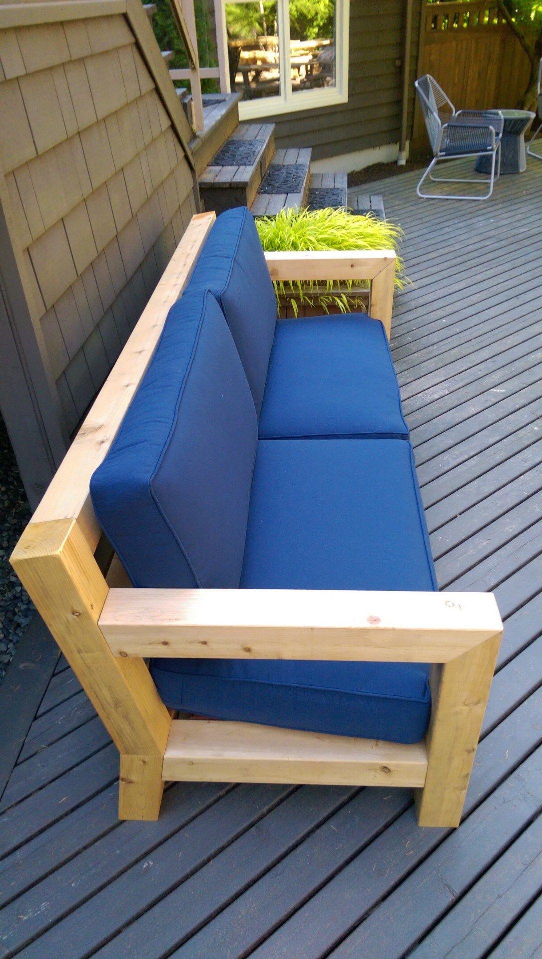 Diy Modern Rustic Outdoor Sofa Inspired Rh Merida