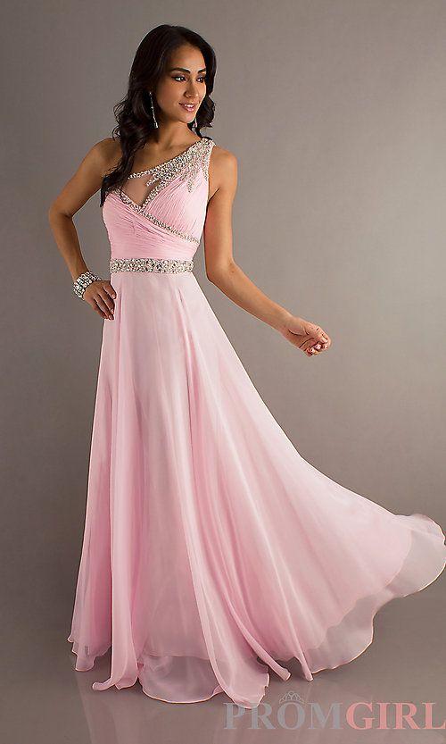One Shoulder Pink Prom Dress - Ocodea.com