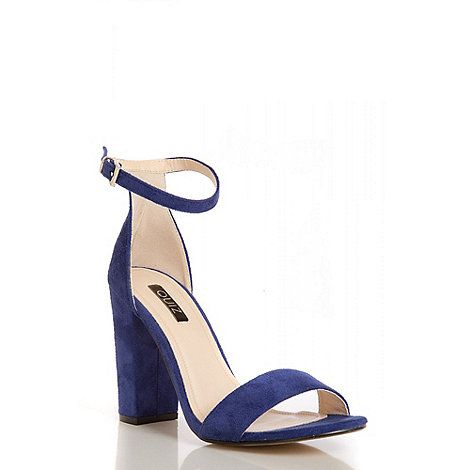 Debenhams · Quiz Blue Block Heel Sandals ...