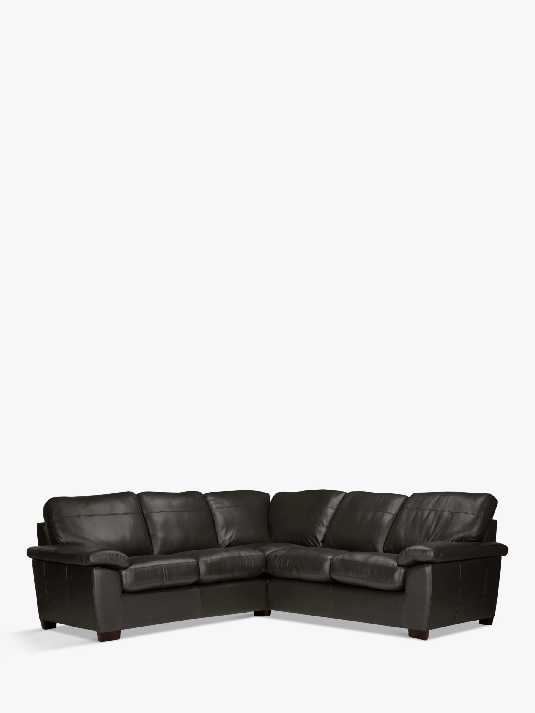 John Lewis Partners Camden Leather Corner Sofa Dark Leg Leather Corner Sofa Sofa Corner Sofa