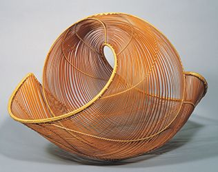 Bamboo flower vessel,             Named Roaring Waves