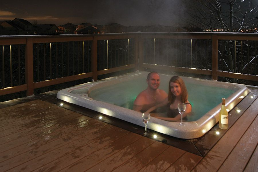 Decking Inspiration - DEKOR® Lighting Made in the USA #hottubdeck
