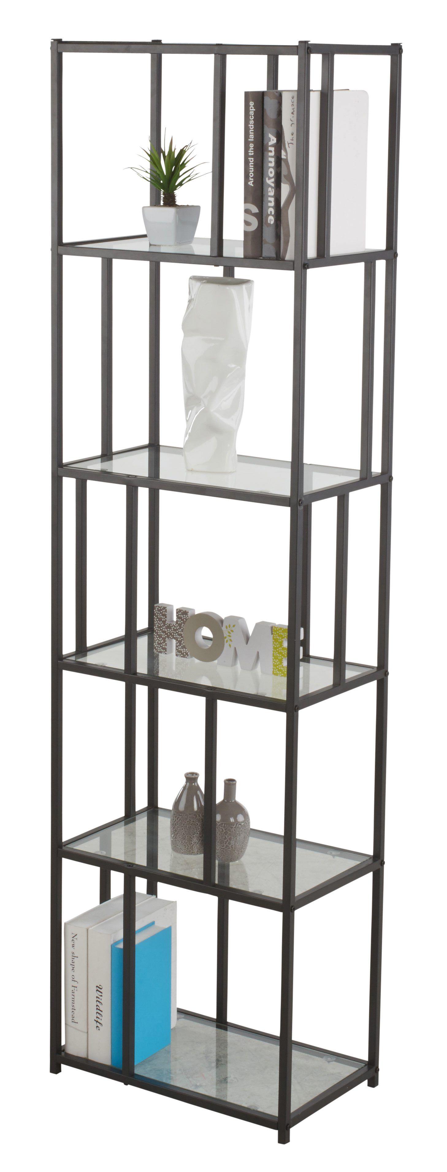 Bibliotheque Graphic Verre Metal Noir Pour Un Esprit Industriel But Mobilier De Salon Meuble Canape Relooker Une Table Basse