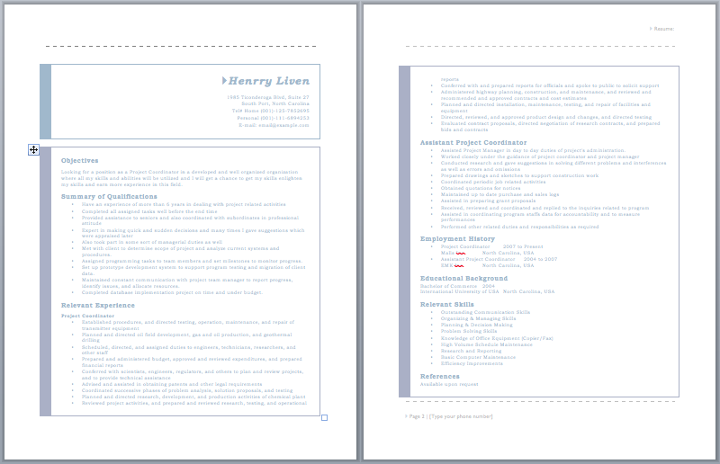 20 Free Project Coordinator Resume Samples in MS Word