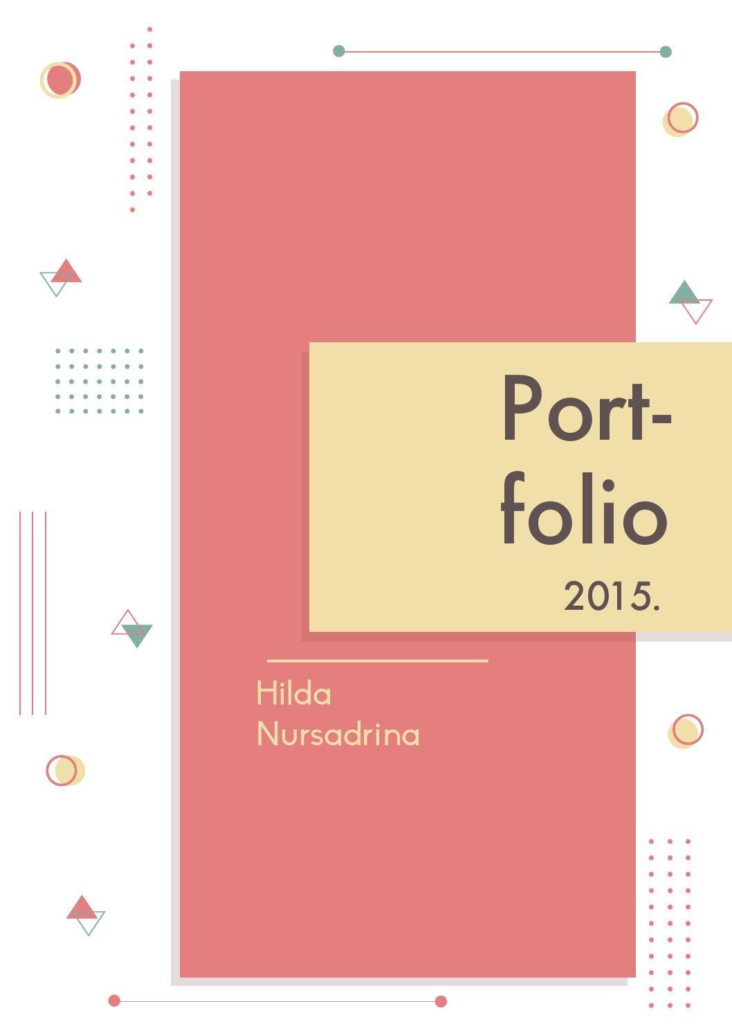 Portfolio hilda nursadrina | Portafolio, Inspiración de diseño y ...