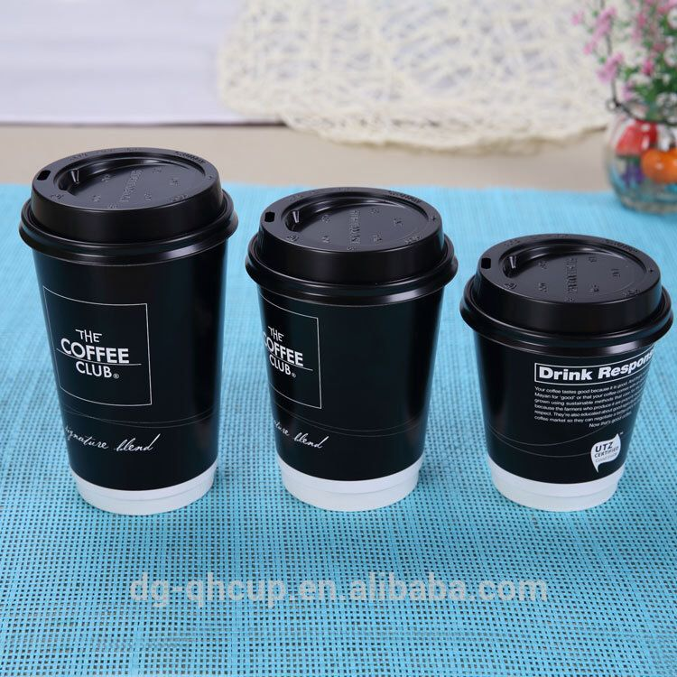 Source 8oz 12oz 16oz Double Wall Paper Cup With Same Size Lids Coffee Cups On Malibaba