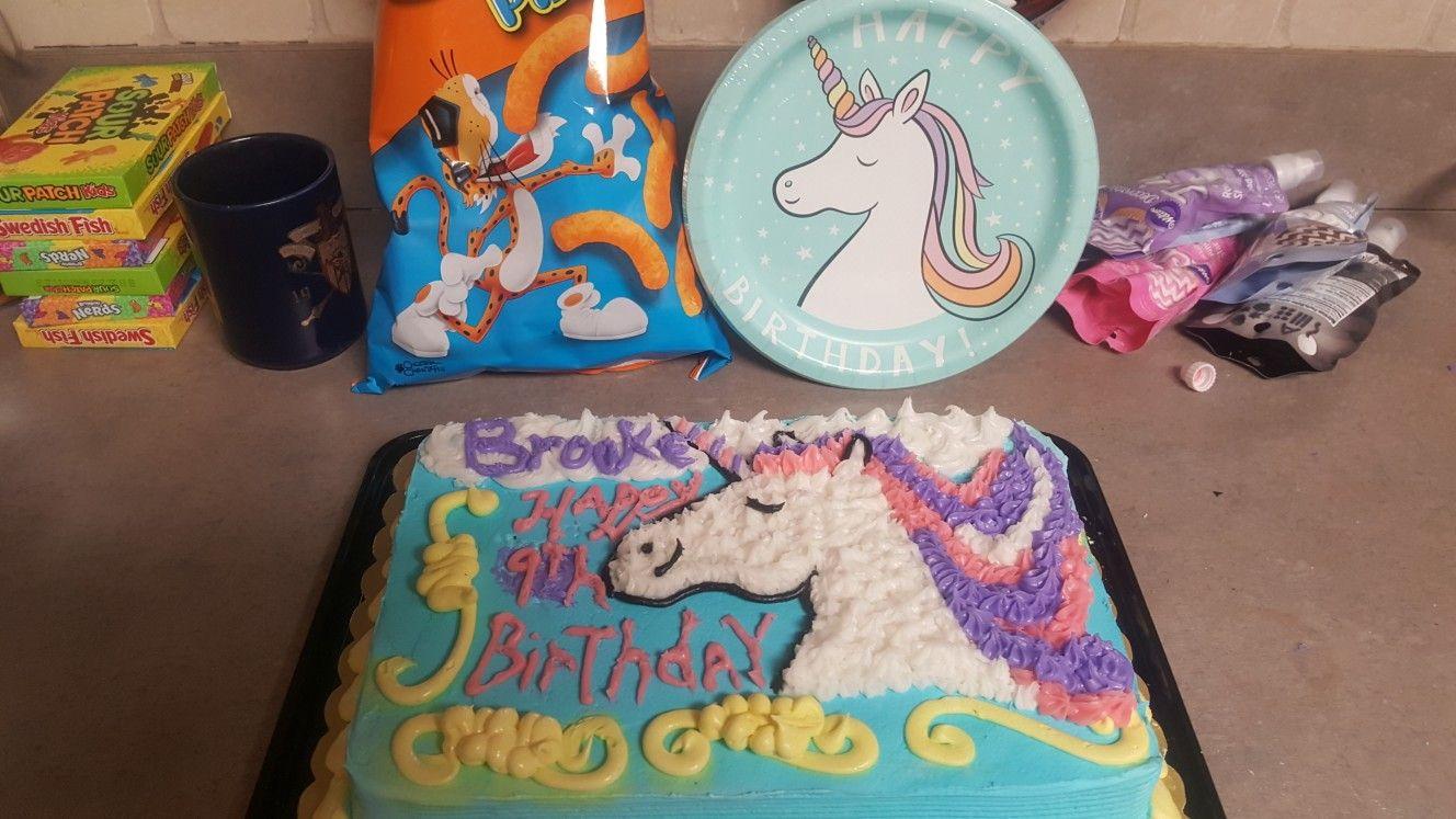 Target Unicorn Themed Cake For My 9 Year Old Unicorncake