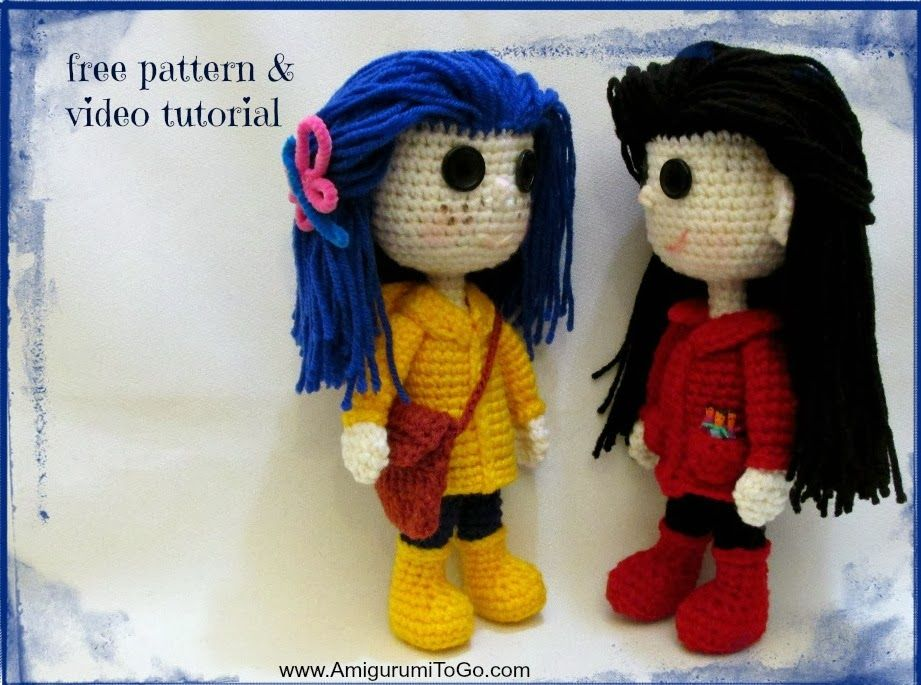 Amigurumi To Go Coraline : Doll pattern video tutorial on amigurumi to go. written pattern also