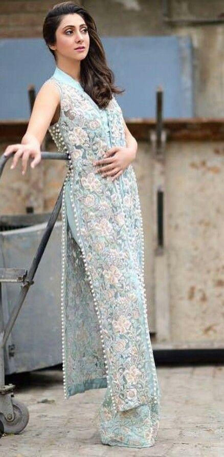 Sky Blue Indian Dress