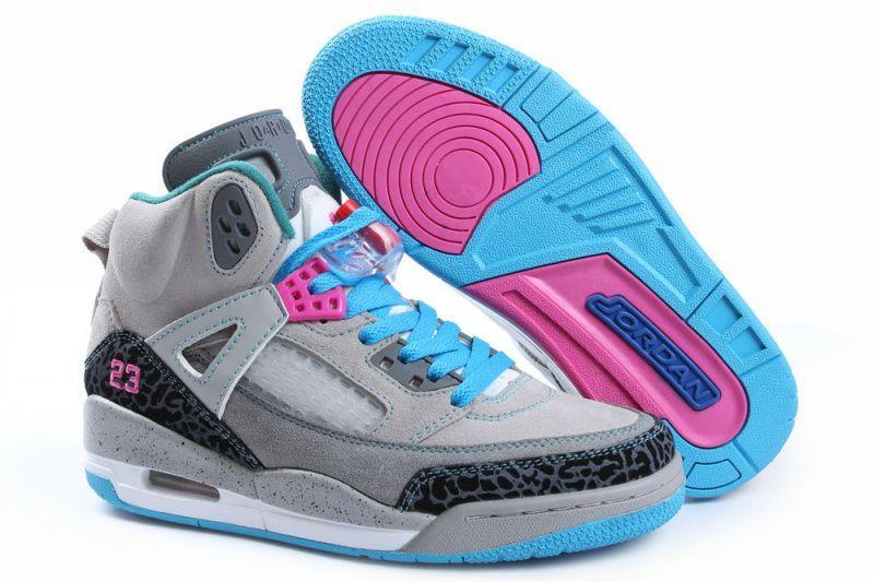 Womens Jordan 3.5 Grey Green Pink Shoes