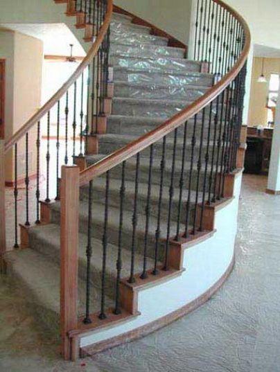 Lighting Basement Washroom Stairs: Bannisters Or Stair Railings