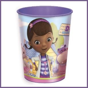 Doc McStuffins 16 oz Plastic Keeper Cup, $1.29 Cdn each. http://www.allthatstuff.net/DocMcStuffins/doc-mcstuffins-party-supplies.html