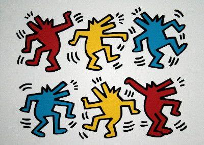 Berühmt Keith Haring : Loups qui dansent | Keith haring | Pinterest  KB33