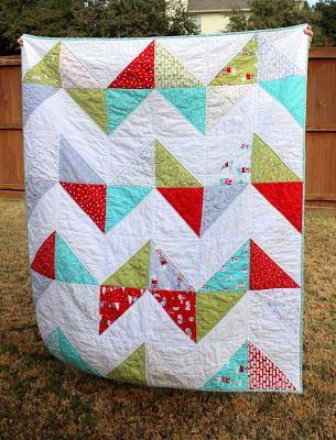 Easy Peasy Chevron Quilt Tutorial | Chevron quilt tutorials ... : easy breezy quilt pattern - Adamdwight.com