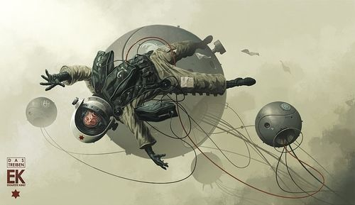 theonlymagicleftisart:  Technocratic space art by Derek Stenning  OMFG <3