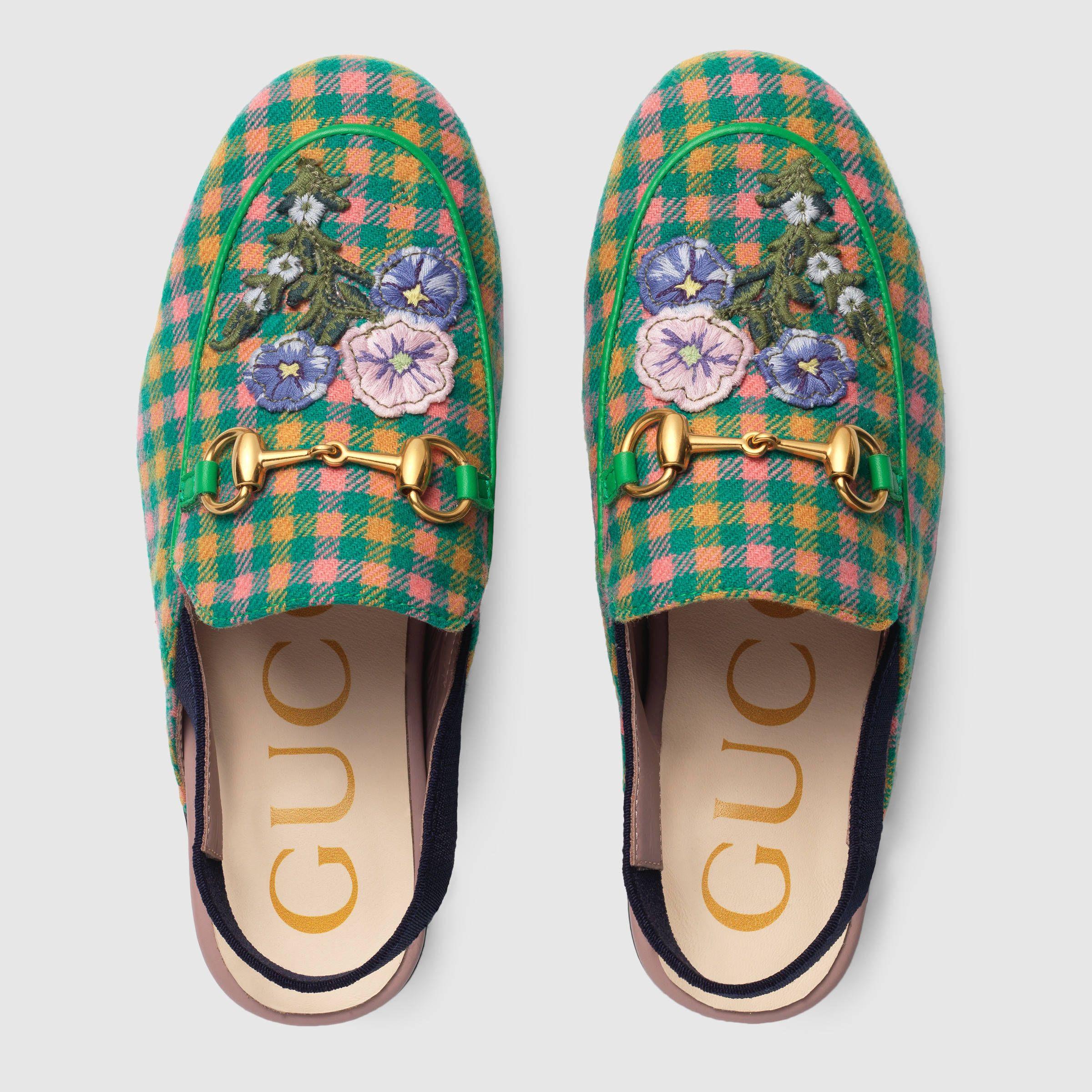 47802ceeab Gucci Children's Princetown slipper with appliqués Detail 3 ...